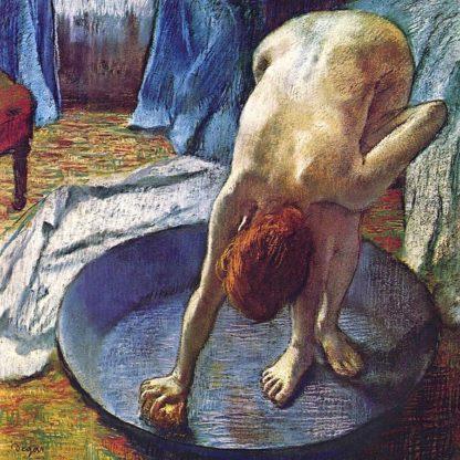 D1999D - Degas, Edgar - Frau in der Bedewanne