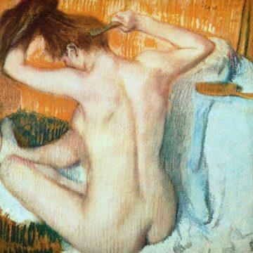 D2000D - Degas, Edgar - Woman Combing Her Hair