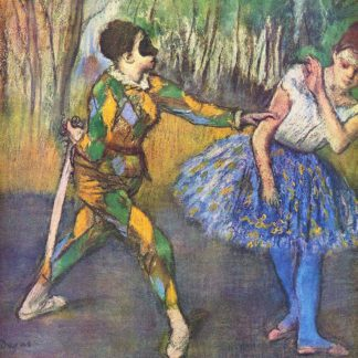 D2001D - Degas, Edgar - Harlequin and Colombine
