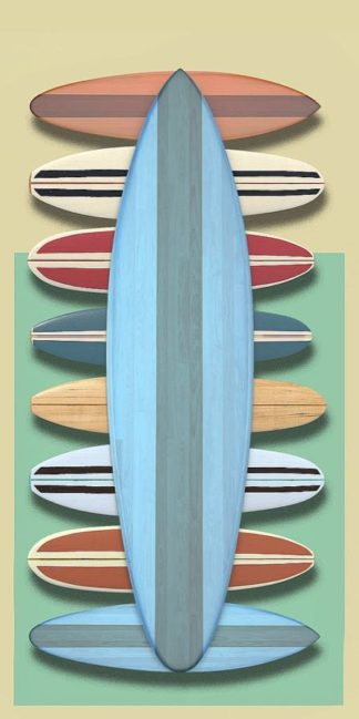 F762D - Fielding, Edward M. - Surfboards - Red