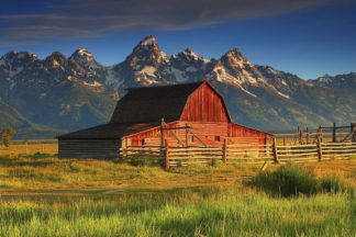 H1561D - Hodges, Randall J. - Barn and Grand Tetons, WY