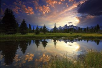 H1562D - Hodges, Randall J. - Sunset Grand Tetons, WY