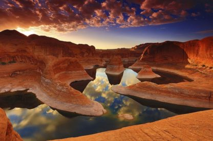 H1566D - Hodges, Randall J. - Sunset Reflection Canyon, Utah