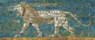U691D - Unknown - Panel with Striding Lion, ca. 604-562 B.C.E.
