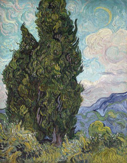 V731D - Van Gogh, Vincent - Cypresses, 1889