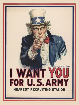 F774D - Flagg, James Montgomery - Uncle Sam, I Want You for the U.S. Army, 1917