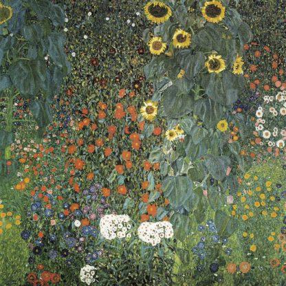 K2727D - Klimt, Gustav - Farm Garden with Sunflowers, 1906