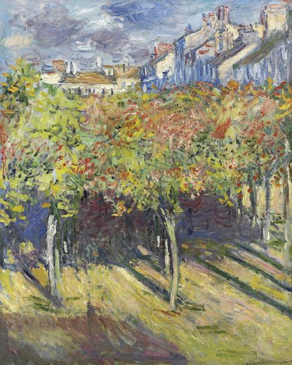M1691D - Monet, Claude - The Lindens of Poissy, 1882