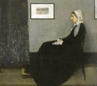 W1064D - Whistler, James Abbott McNeill - Whistler's Mother, 1871