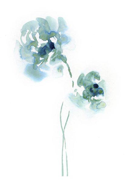 B3815D - Binkin, Lesia - Teal Florals