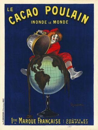C1272D - Cappiello, Leonetto - Le cacao Poulain inonde le monde, 1911