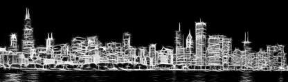 R1284D - Romanowicz, Adam - Chicago Skyline Fractal