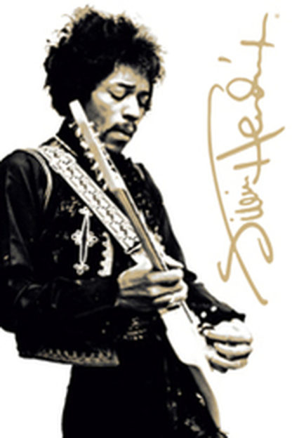 U714 - Unknown - Jimi Hendrix (Black and White)
