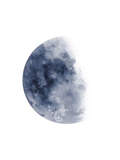W1099D - Wong, Brandon - Blue Moon Waning No. 1