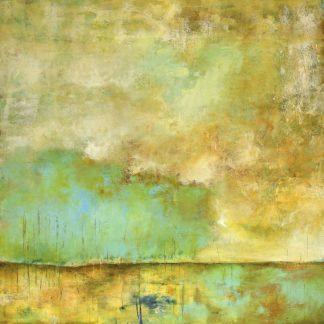 L927D - Lisa Mann Fine Art - Deep Breath, Teal Trees, Stillness