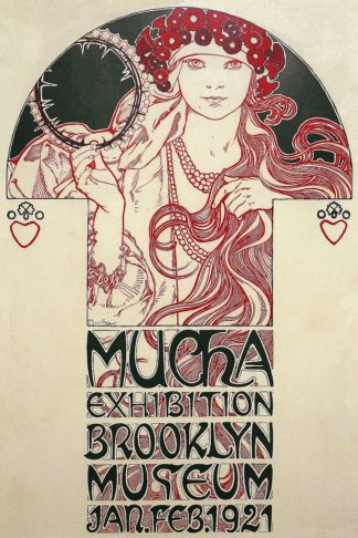 M1712D - Mucha, Alphonse - Mucha Exhibition, Brooklyn Museum, 1920