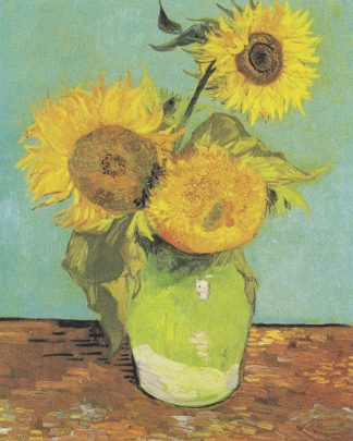 V763D - Van Gogh, Vincent - Three Sunflowers in a Vase, 1888