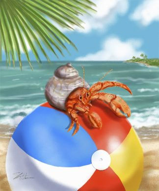 W1113D - Warren, Shari - Beach Friends - Hermit Crab