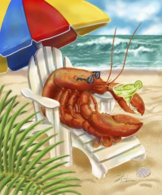 W1114D - Warren, Shari - Beach Friends - Lobster