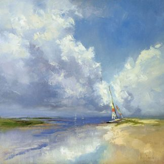 B3902D - Bruniany, Kasia - Sailboat on a Sandy Beach