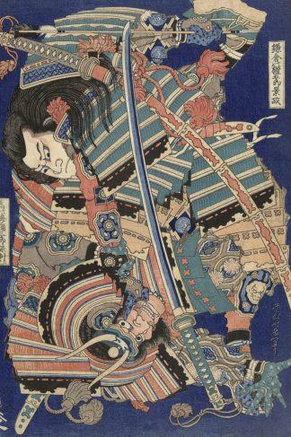 H1697D - Hokusai, Katsushika - Fighting Heroes, 1827-1832