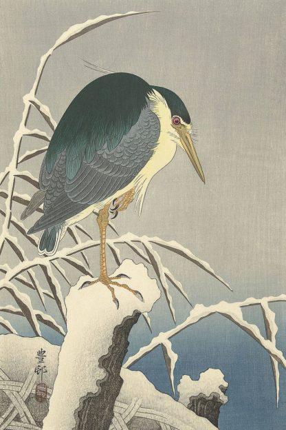 K2742D - Koson, Ohara - Heron in Snow, 1920-1930