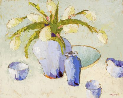 M1717D - Maguire, Carol - White Tulips with Bulbs