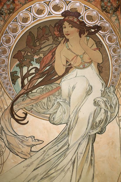 M1719D - Mucha, Alphonse - Music (from The Four Arts - Detail), 1898