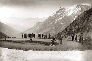P789D - Presse ÕE Sports - Snow on the Galibier, 1924