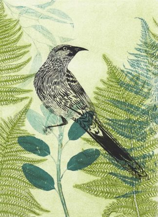 R1373D - Rice, Trudy - Wattlebird Hiding in the Fernery