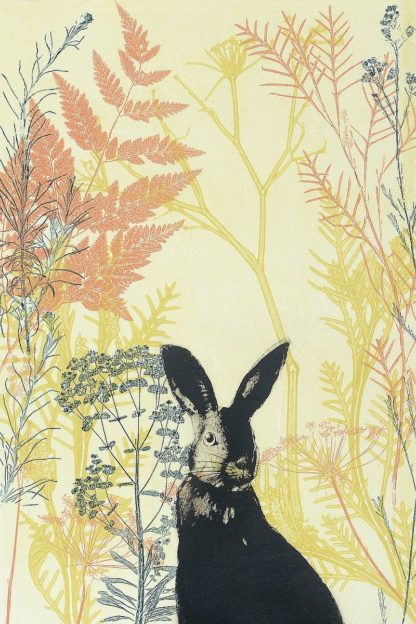 R1376D - Rice, Trudy - Wild Bunny in a Shiny Coral Garden