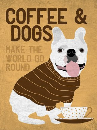 O417D - Oliphant, Ginger - Coffee and Dogs French Bulldog
