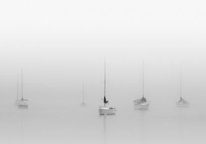 B4050D - Bell, Nicholas - Six Moored Sailboats