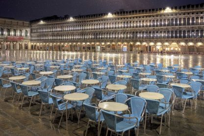 B4061D - Blaustein, Alan - Piazza San Marco At Night