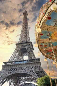 B4062D - Blaustein, Alan - Eiffel Tower and Carousel I