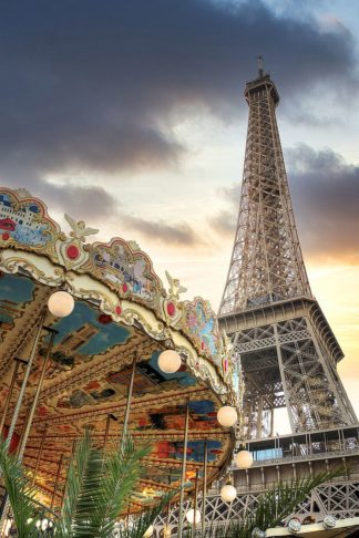 B4063D - Blaustein, Alan - Eiffel Tower and Carousel II