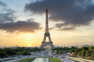 B4064D - Blaustein, Alan - Eiffel Tower Sunset