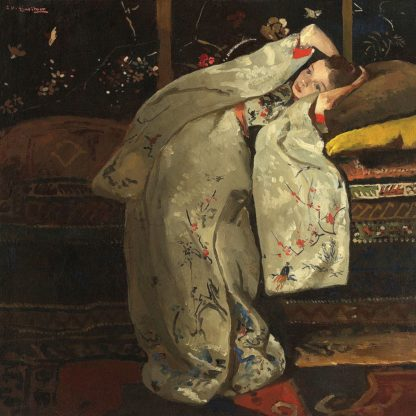 B4073D - Breitner, George Hendrik - Girl in a White Kimono, 1894