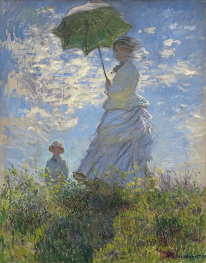 M1739D - Monet, Claude - Woman with a Parasol - Madame Monet and Her Son, 1875