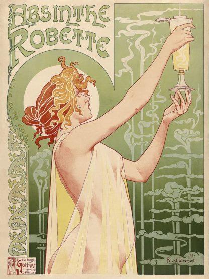 P1209D - Privat-Livemont, Henri - Absinthe Robette, 1896