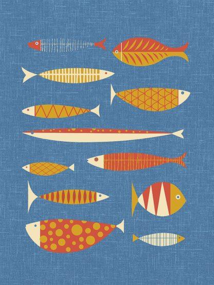 T733D - Theodore, James - Scandia Fish Orange