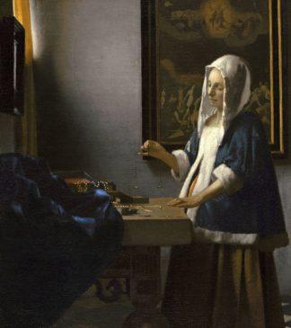 V765D - Vermeer, Johannes - Woman Holding a Balance, 1664