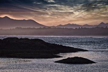 B4074D - Burdick, Chuck - Sunset Glow at Wickaninnish Beach