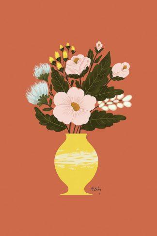 A719D - Annie Bailey Art - Happy Flowers
