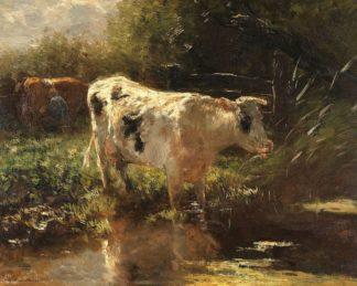 M1791D - Maris, Willem - Cow beside a Ditch, c. 1885-1895