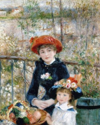 R1398D - Renoir, Pierre Auguste - The Two Sisters, On the Terrace, 1881