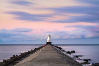 R1429D - Romanowicz, Adam - Ludington North Breakwater Light Sunrise