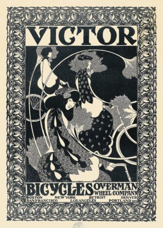 B3114D - Bradley, William Henry - Victor Bicycles (vertical, monochrome)