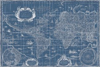 Blueprint World Map, 1630