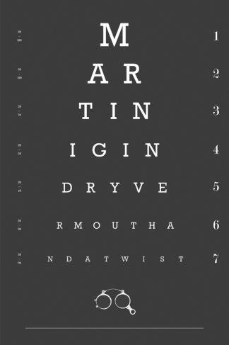 Eye Chart Martini
